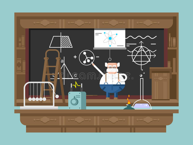 Διάλεξη από τον καθηγητή απεικόνιση αποθεμάτων