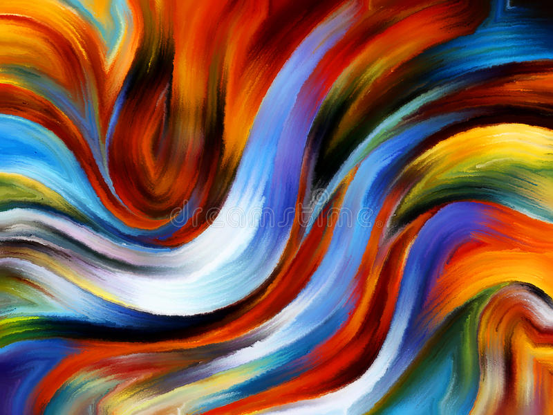 Διάδοση του εσωτερικού χρώματος απεικόνιση αποθεμάτων
