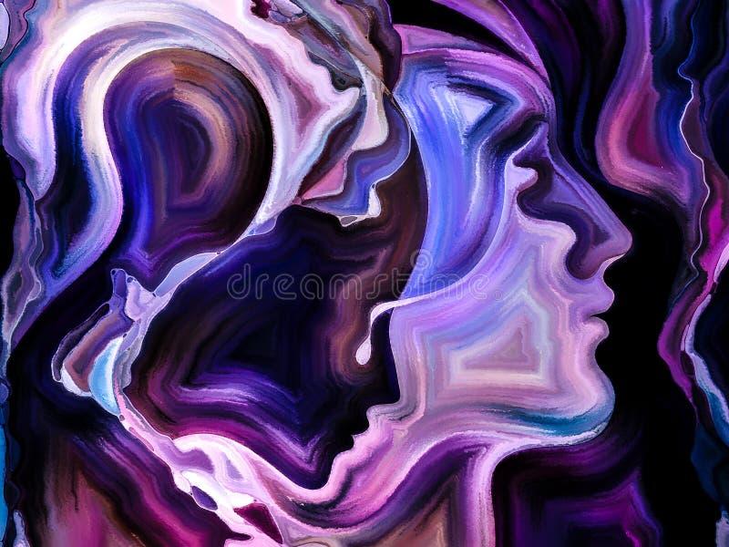 Διάδοση του εσωτερικού χρώματος διανυσματική απεικόνιση