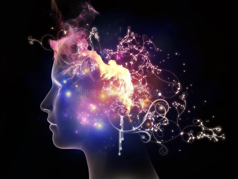 Διάδοση των εσωτερικών σκέψεων διανυσματική απεικόνιση