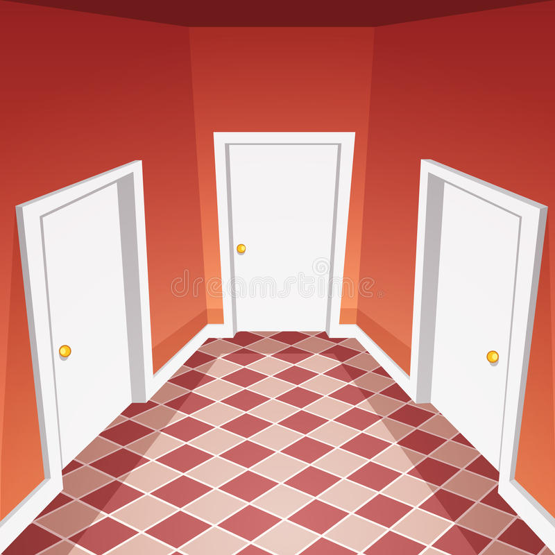 Διάδρομος σπιτιών ελεύθερη απεικόνιση δικαιώματος