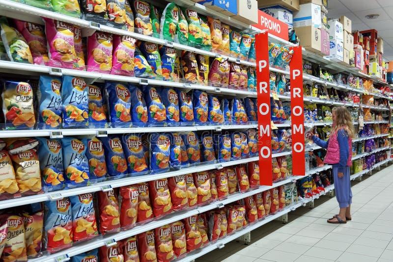Διάδρομος τροφίμων πρόχειρων φαγητών στοκ εικόνες με δικαίωμα ελεύθερης χρήσης