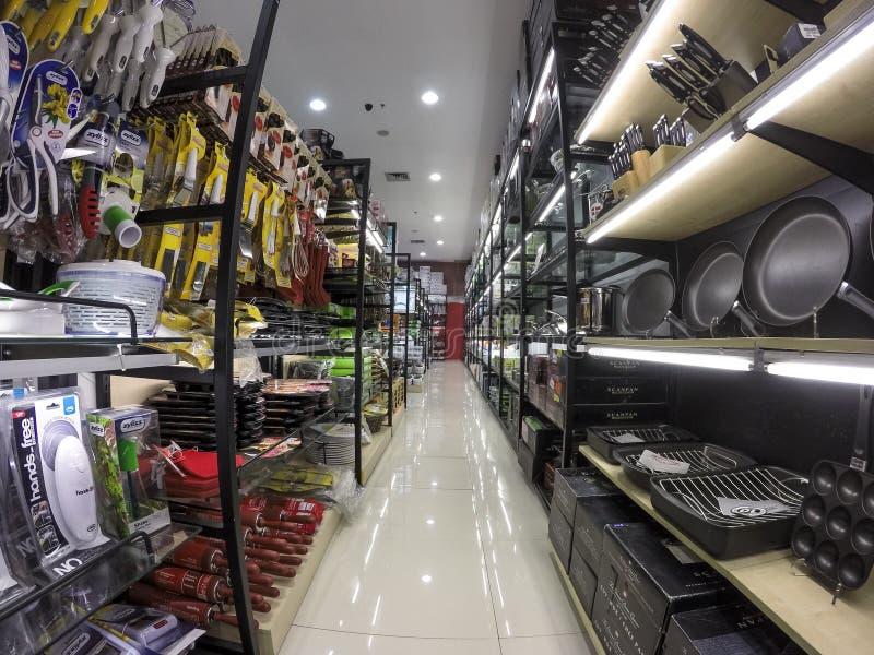 Διάδρομος Χογκ Κογκ υπεραγορών στοκ εικόνες