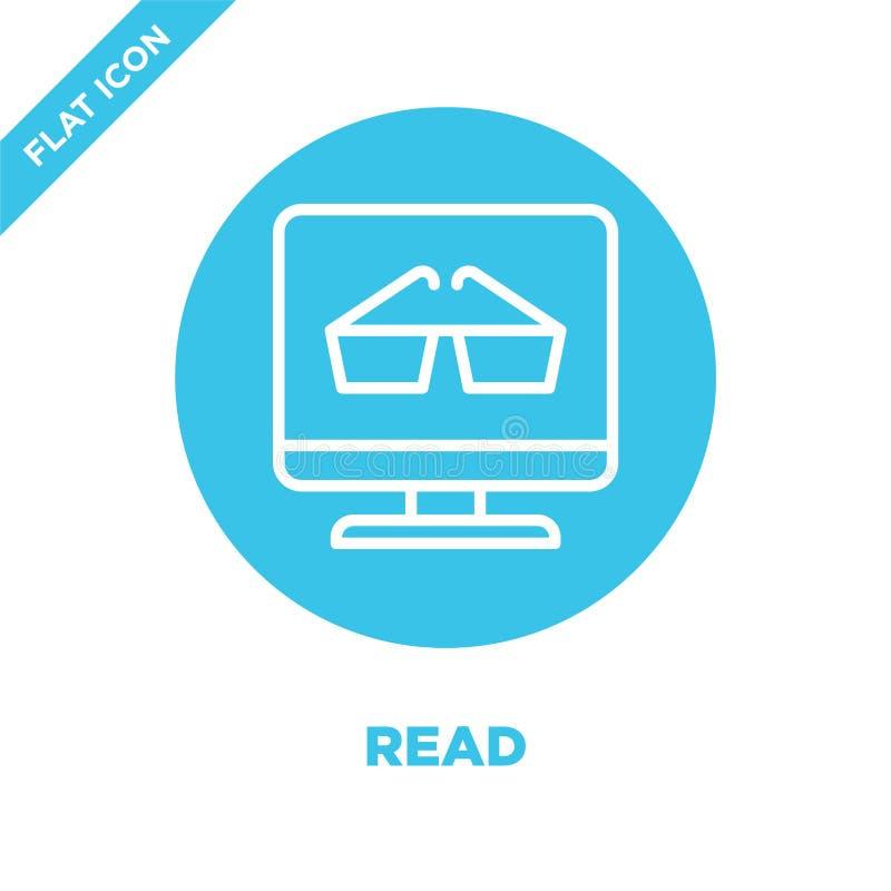 διαβάστε το διάνυσμα εικονιδίων από τη συλλογή δυνατότητας πρόσβασης Η λεπτή γραμμή διάβασε στο εικονίδιο περιλήψεων τη διανυσματ ελεύθερη απεικόνιση δικαιώματος