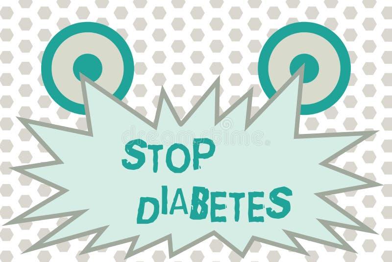 Διαβήτης στάσεων κειμένων γραψίματος λέξης Η επιχειρησιακή έννοια για το επίπεδο ζάχαρης αίματος είναι υψηλότερη από κανονικός εγ διανυσματική απεικόνιση