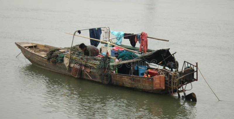 διαβίωση sampan στοκ εικόνες με δικαίωμα ελεύθερης χρήσης