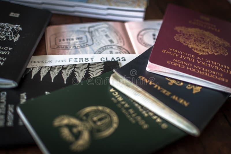 Διαβατήρια και θεώρηση στοκ φωτογραφία
