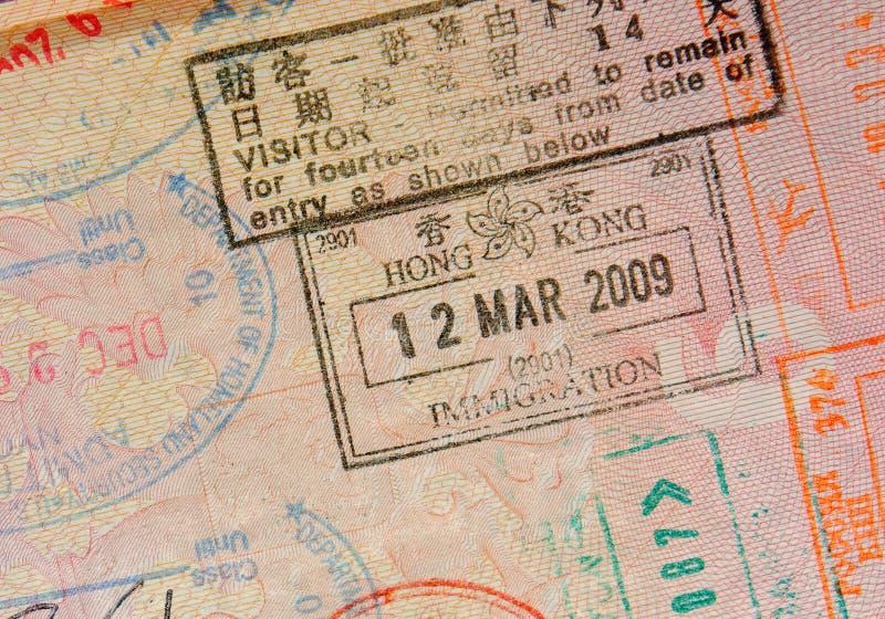 Διαβατήριο με τα γραμματόσημα του Χογκ Κογκ στοκ φωτογραφία με δικαίωμα ελεύθερης χρήσης