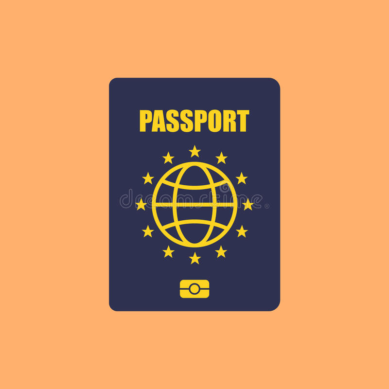 Διαβατήριο της Ευρώπης διανυσματική απεικόνιση