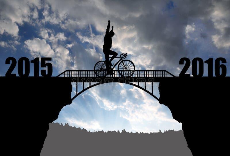 Διαβιβάστε στο νέο έτος 2016 στοκ εικόνες
