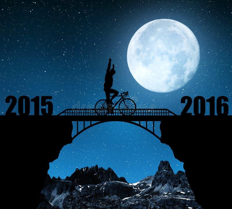 Διαβιβάστε στο νέο έτος 2016 στοκ εικόνα με δικαίωμα ελεύθερης χρήσης