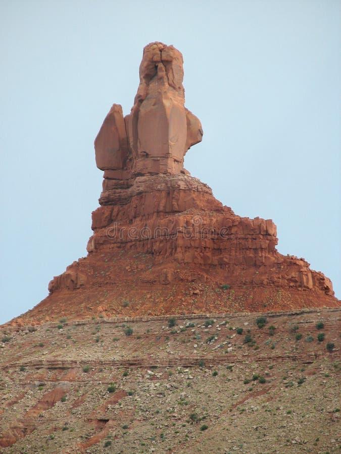 διαβρωμένος βράχος mesa σχημ&alp στοκ φωτογραφία με δικαίωμα ελεύθερης χρήσης