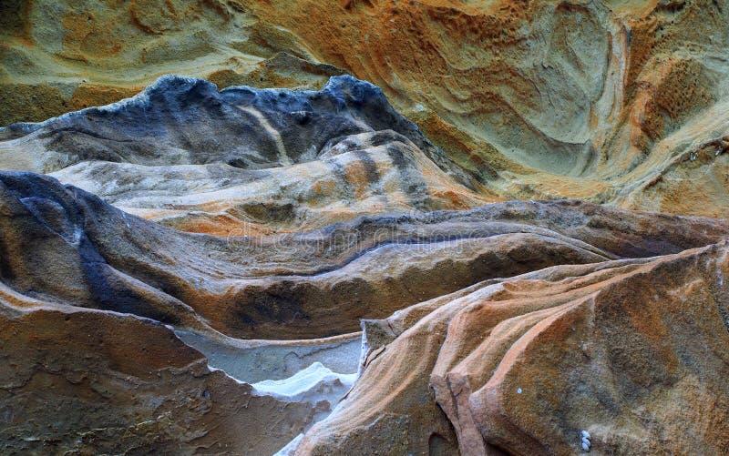Διαβρωμένος ψαμμίτης, φυσική αφηρημένη εικόνα τοπίων στοκ εικόνες με δικαίωμα ελεύθερης χρήσης