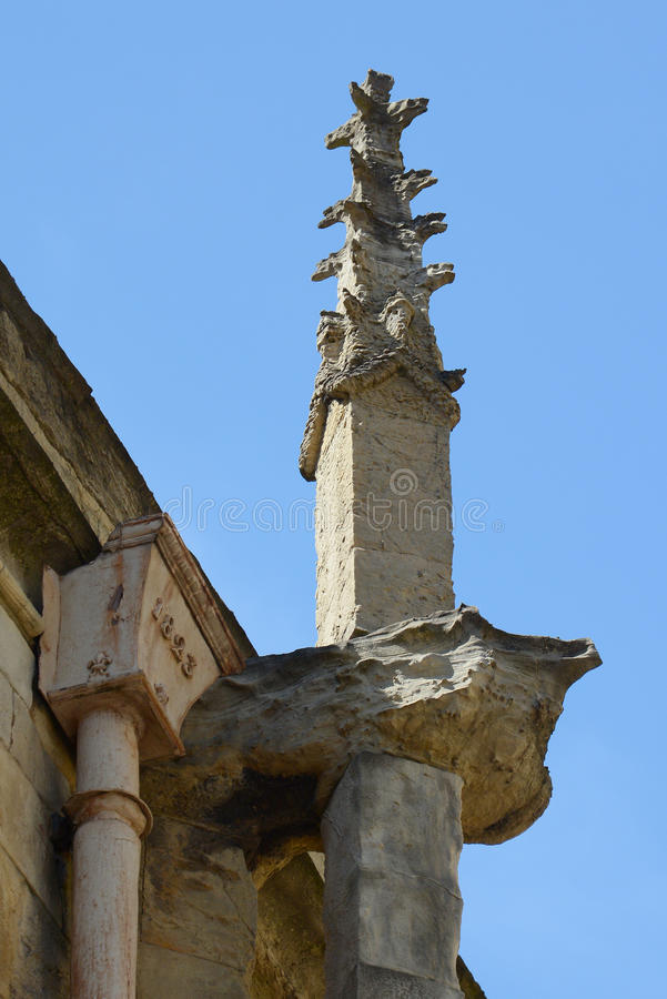 Διαβρωμένος gargoyles στην εκκλησία στην Υόρκη στοκ εικόνα με δικαίωμα ελεύθερης χρήσης
