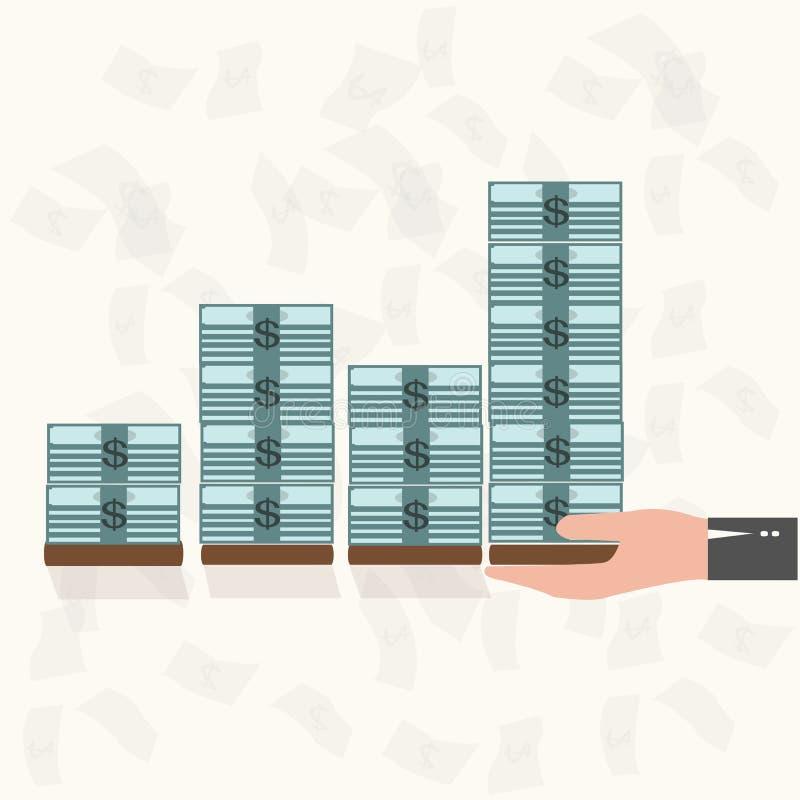 Διαγράμματα χρημάτων αύξησης διανυσματική απεικόνιση