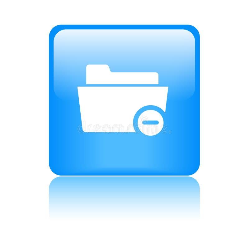 Διαγράψτε/αφαιρέστε το φάκελλο διανυσματική απεικόνιση