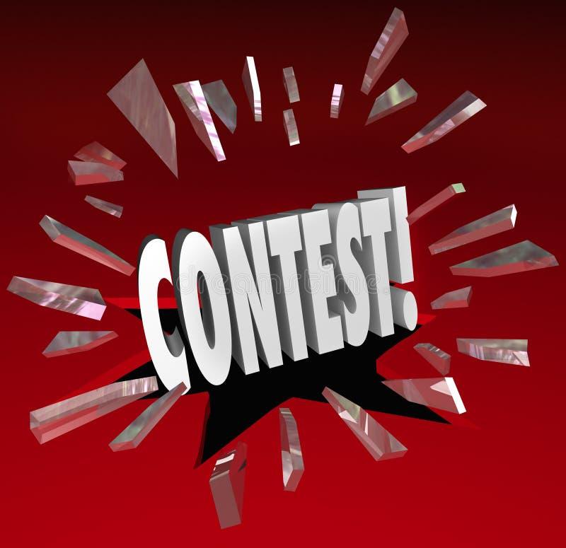 Διαγωνισμού τρισδιάστατες ειδήσεις ανακοίνωσης σχεδίων βραβείων του Word μεγάλες διανυσματική απεικόνιση