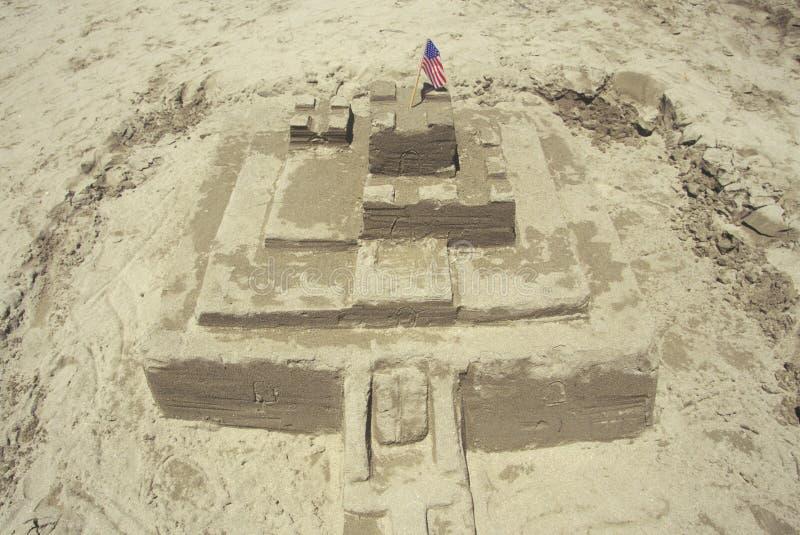 Διαγωνισμός του Castle Sculpting άμμου, Cayucos, Καλιφόρνια στοκ φωτογραφία με δικαίωμα ελεύθερης χρήσης