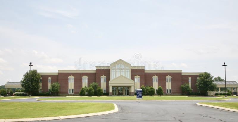 Διαγώνια βαπτιστική εκκλησία pointe, Millington, TN στοκ φωτογραφίες