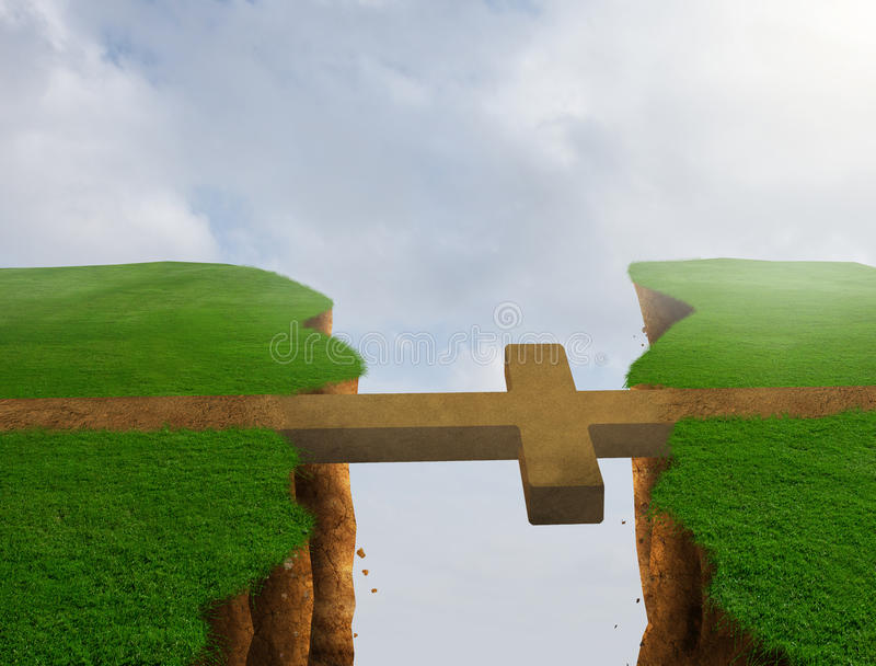 Διαγώνια γέφυρα διανυσματική απεικόνιση