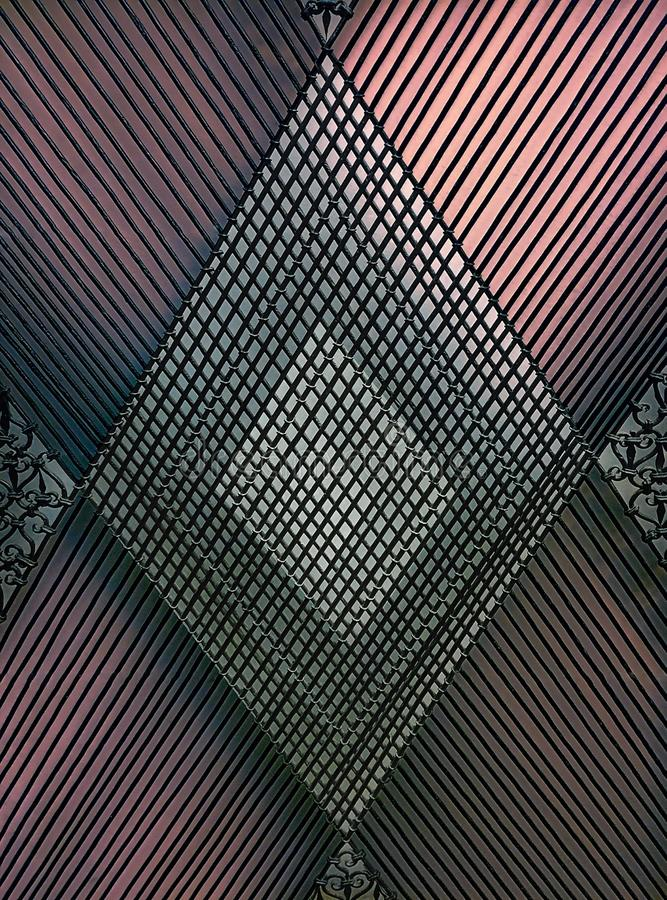 Διαγώνια καλώδια στοκ φωτογραφίες