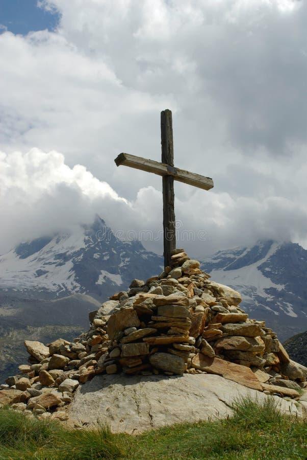 διαγώνια κορυφή βουνών στοκ εικόνα