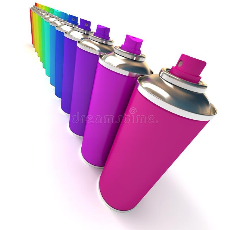 Διαγώνια σειρά των πολύχρωμων ψεκασμών ελεύθερη απεικόνιση δικαιώματος