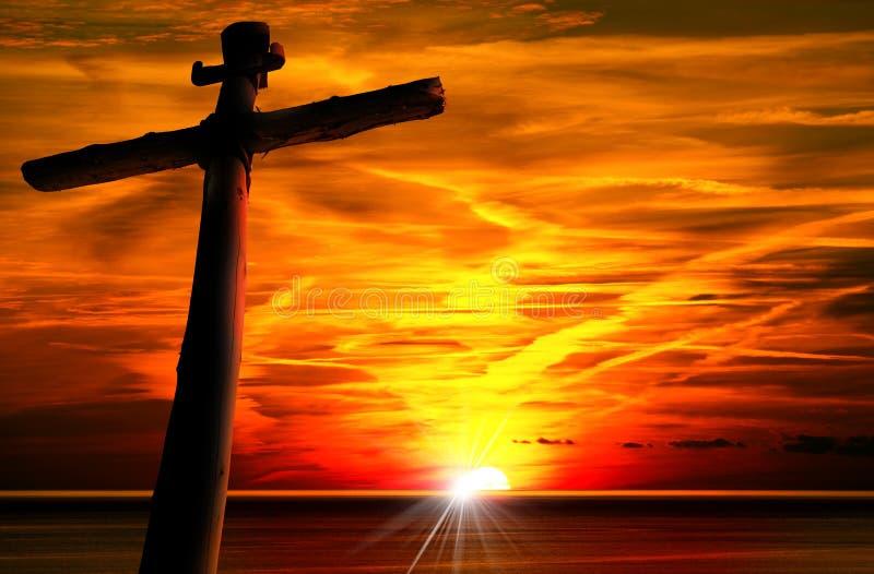 Διαγώνια σκιαγραφία στο ηλιοβασίλεμα στοκ φωτογραφία με δικαίωμα ελεύθερης χρήσης