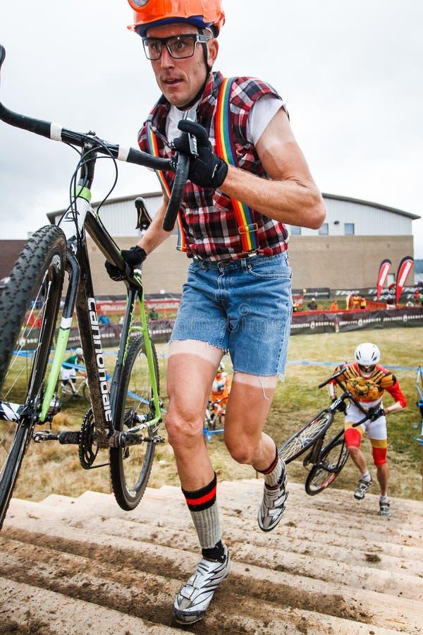 Διαγώνια σταυροφορία Cyclocross αποκριών στοκ φωτογραφία με δικαίωμα ελεύθερης χρήσης