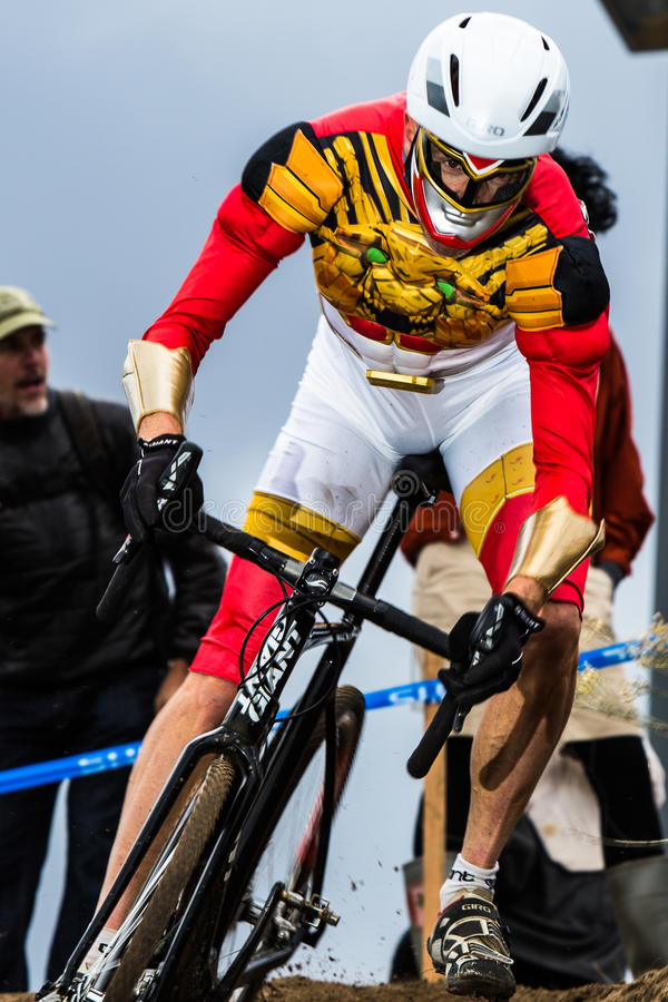 Διαγώνια σταυροφορία Cyclocross αποκριών στοκ φωτογραφίες