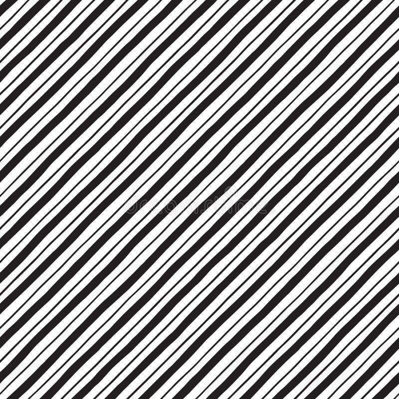 Διαγώνια συρμένα χέρι ανώμαλα λωρίδες, άνευ ραφής σχέδιο γραμμών ελεύθερη απεικόνιση δικαιώματος