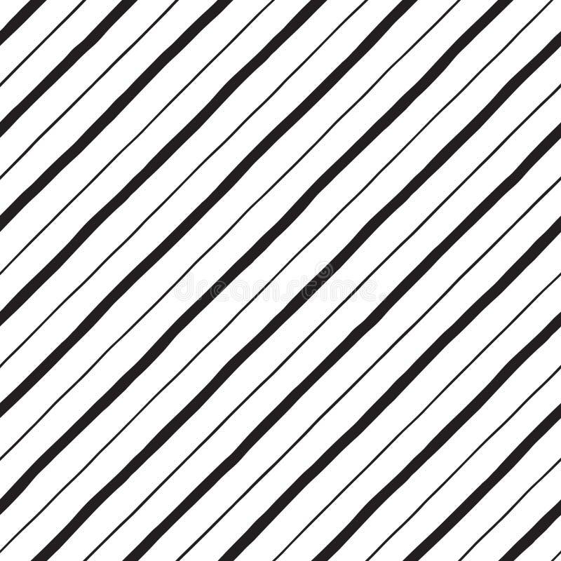 Διαγώνια συρμένα χέρι doodle λωρίδες, άνευ ραφής υπόβαθρο ραβδώσεων απεικόνιση αποθεμάτων