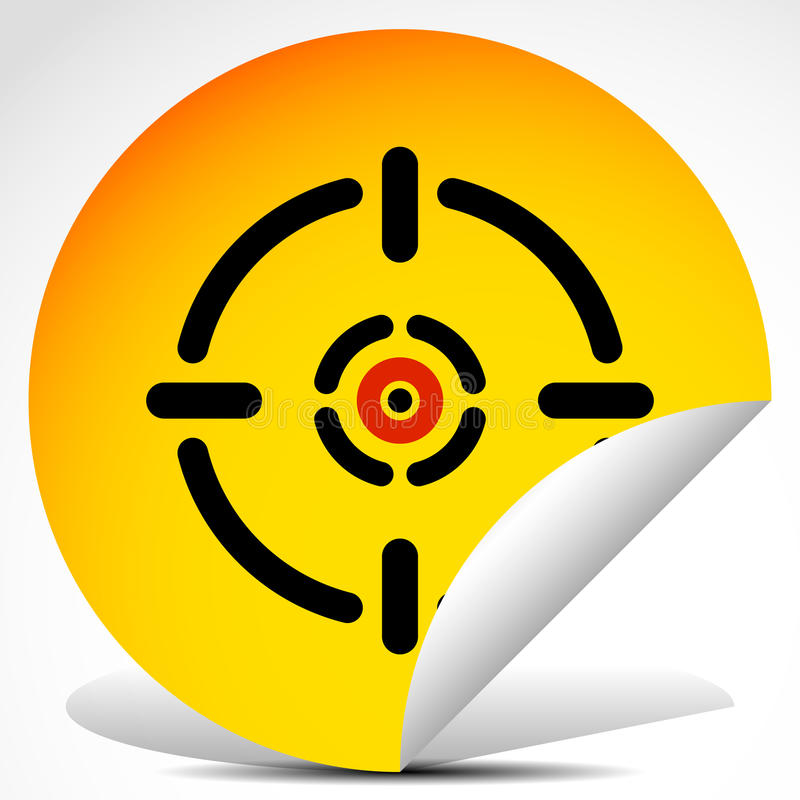 Διαγώνια τρίχα, σημάδι στόχων στην αυτοκόλλητη ετικέττα αποφλοίωσης διανυσματική απεικόνιση