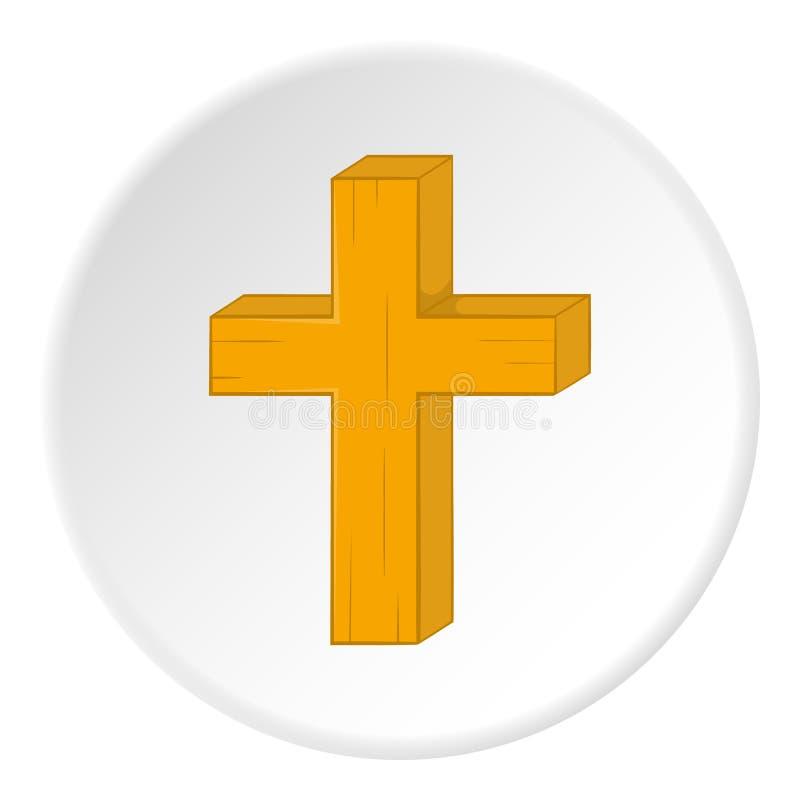 Διαγώνιο εικονίδιο θρησκείας, ύφος κινούμενων σχεδίων ελεύθερη απεικόνιση δικαιώματος