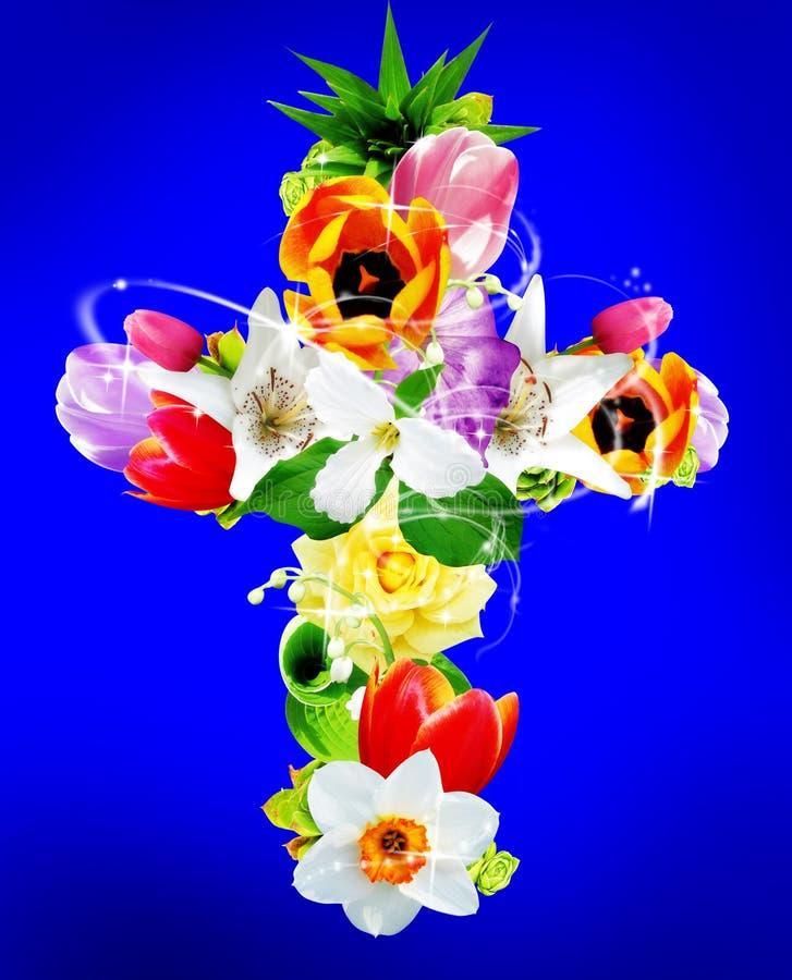 διαγώνιο λουλούδι διανυσματική απεικόνιση