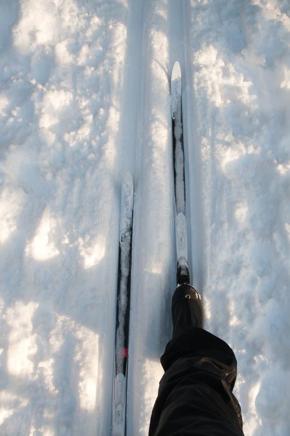 διαγώνιο να κάνει σκι σκιέ στοκ φωτογραφία με δικαίωμα ελεύθερης χρήσης