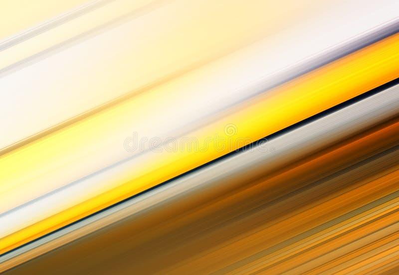 Διαγώνιο πορτοκαλί και κίτρινο υπόβαθρο γραμμών θαμπάδων κινήσεων διανυσματική απεικόνιση
