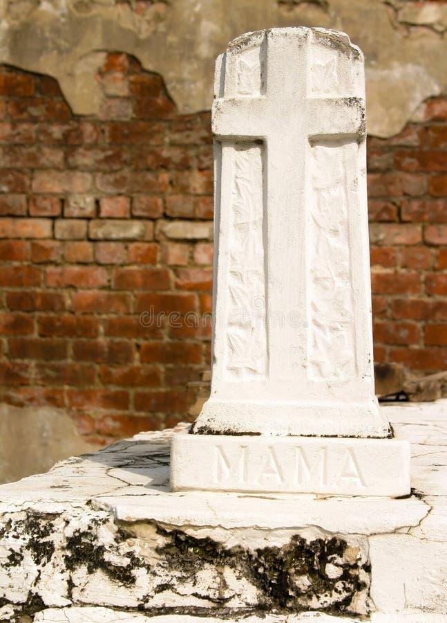 Διαγώνιο Gravemarker στοκ φωτογραφία με δικαίωμα ελεύθερης χρήσης