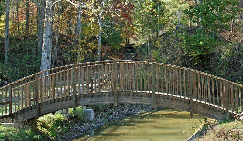 διαγώνιο walkbridge στοκ φωτογραφίες