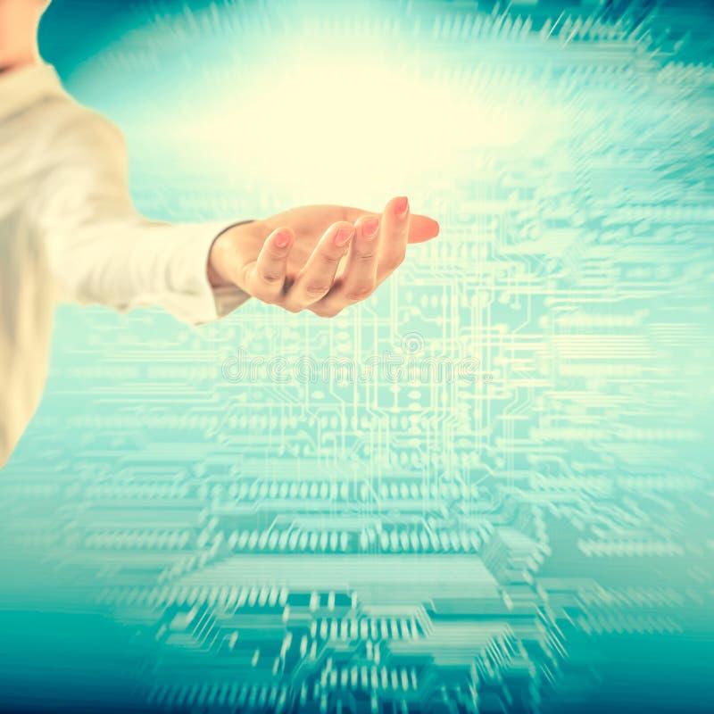 Διαδίκτυο, Ιστός, επικοινωνίες και ακτίνες στα χέρια Καλύτερο Διαδίκτυο Γ απεικόνιση αποθεμάτων