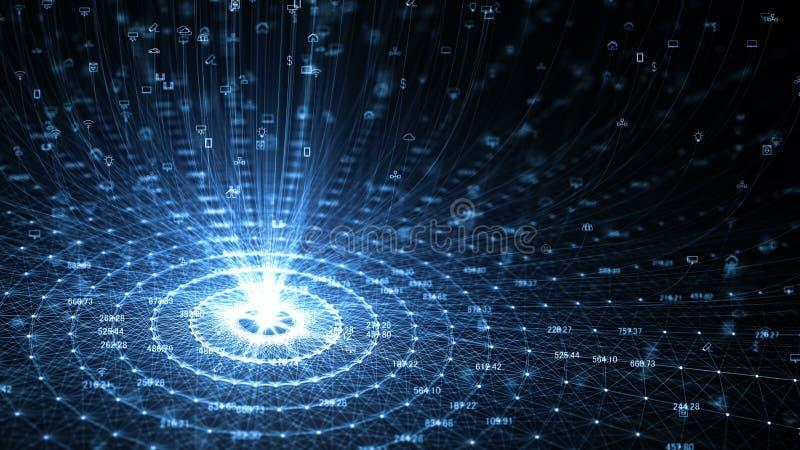 Διαδίκτυο της έννοιας πραγμάτων IOT απεικόνιση αποθεμάτων