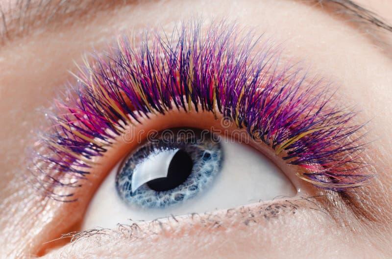 Διαδικασία επέκτασης Eyelash στοκ φωτογραφίες με δικαίωμα ελεύθερης χρήσης