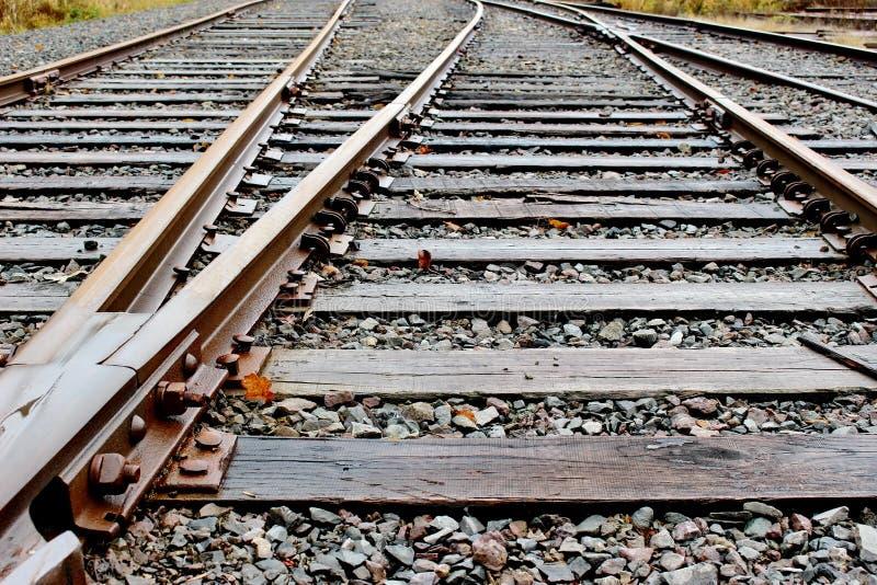 Διαδρομές σιδηροδρόμων, έδαφος μάχης, WA, ΗΠΑ στοκ εικόνες με δικαίωμα ελεύθερης χρήσης