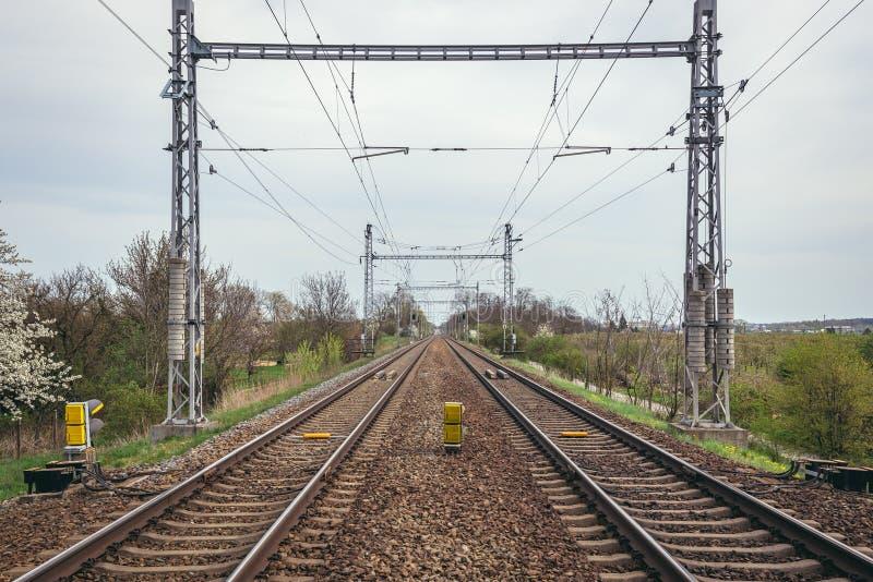 Διαδρομές σιδηροδρόμων στη Δημοκρατία της Τσεχίας στοκ εικόνα με δικαίωμα ελεύθερης χρήσης