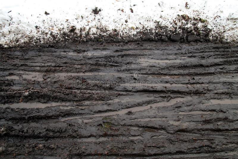 διαδρομές χιονιού λάσπης στοκ εικόνα