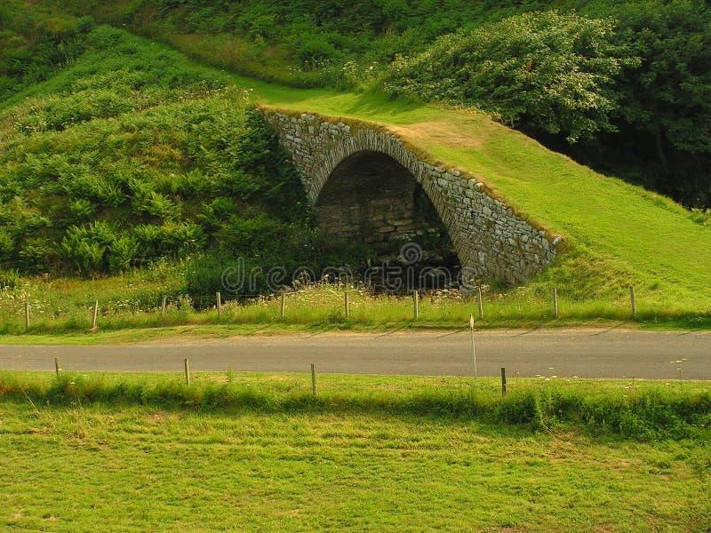 διαδρομή χλόης γεφυρών στοκ εικόνα με δικαίωμα ελεύθερης χρήσης