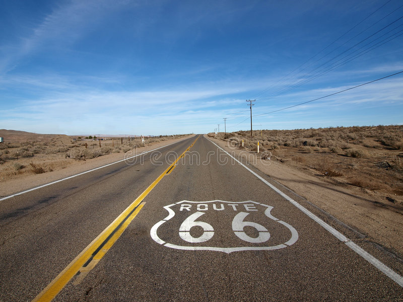 διαδρομή 66 στοκ εικόνες