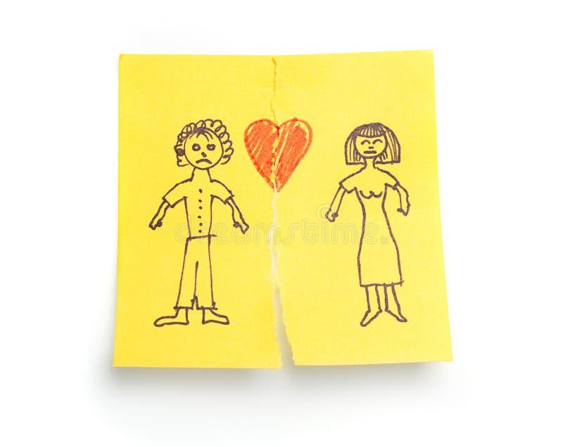 διαζύγιο έννοιας που σκιαγραφείται στοκ φωτογραφίες