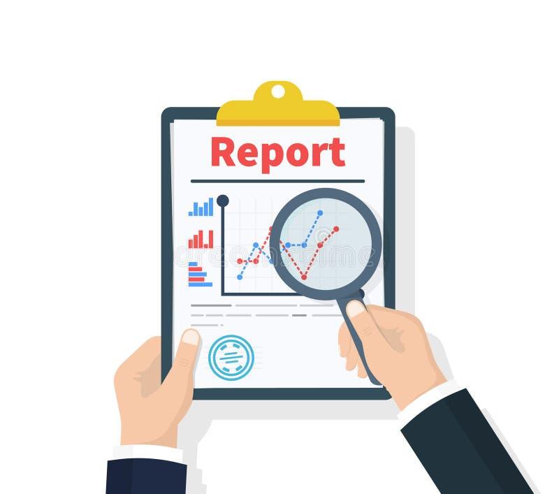 Διαθέσιμη έκθεση χεριών λαβής ατόμων με τα στατιστικά στοιχεία με τα διαγράμματα, διαγράμματα Έγγραφα εργασιακών χώρων για τις οι ελεύθερη απεικόνιση δικαιώματος