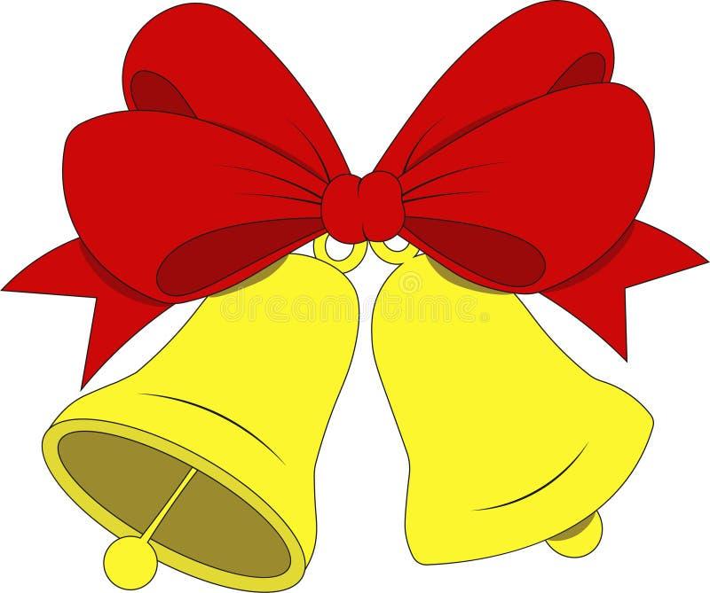 διαθέσιμο διάνυσμα απεικόνισης Χριστουγέννων κουδουνιών νέο έτος στοκ φωτογραφία με δικαίωμα ελεύθερης χρήσης